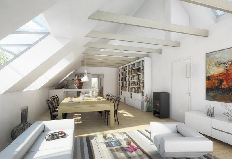 atelier fr hwirth architektur bild dachausbau k. Black Bedroom Furniture Sets. Home Design Ideas